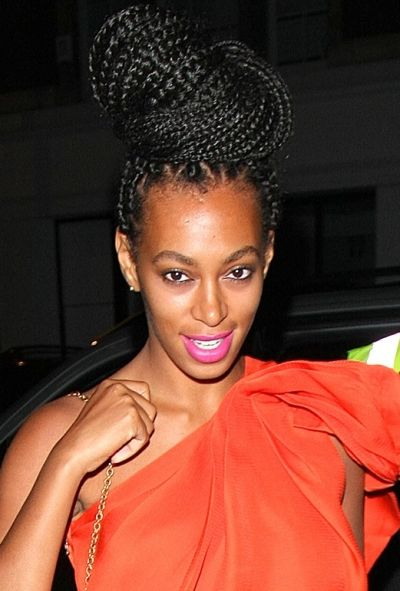 Solange Knowles Braid Up Do