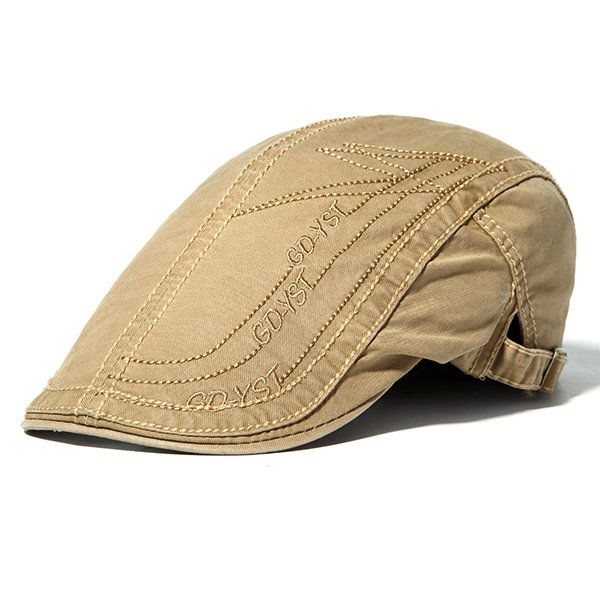 38e2267da7ae8 Mens Cotton Letter Embroidery Berets Hats Casual Sport Visor Work Forword  Caps