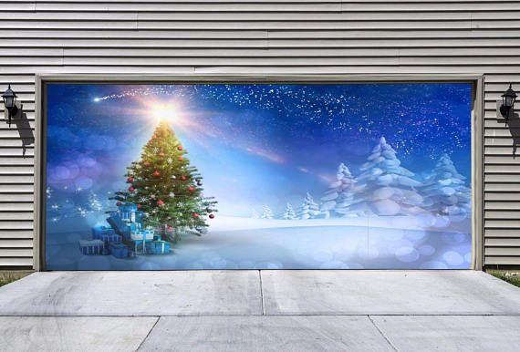 Full Color Christmas Garage Door Murals Christmas