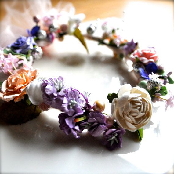 Multi color pastel floral wreath for Flower by TutusChicBoutique, $42.00