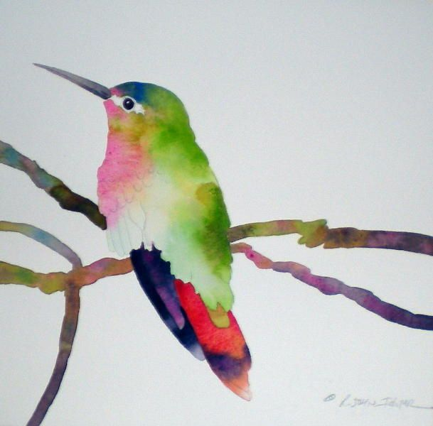 Ichter Studios Beautiful Hummingbird Watercolor