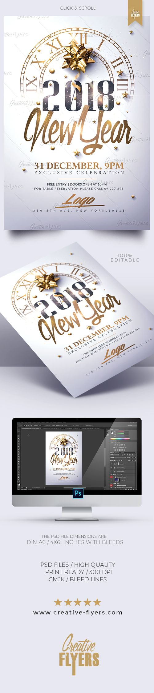 new year flyer templates design 100 editable available edit psd flyer templates