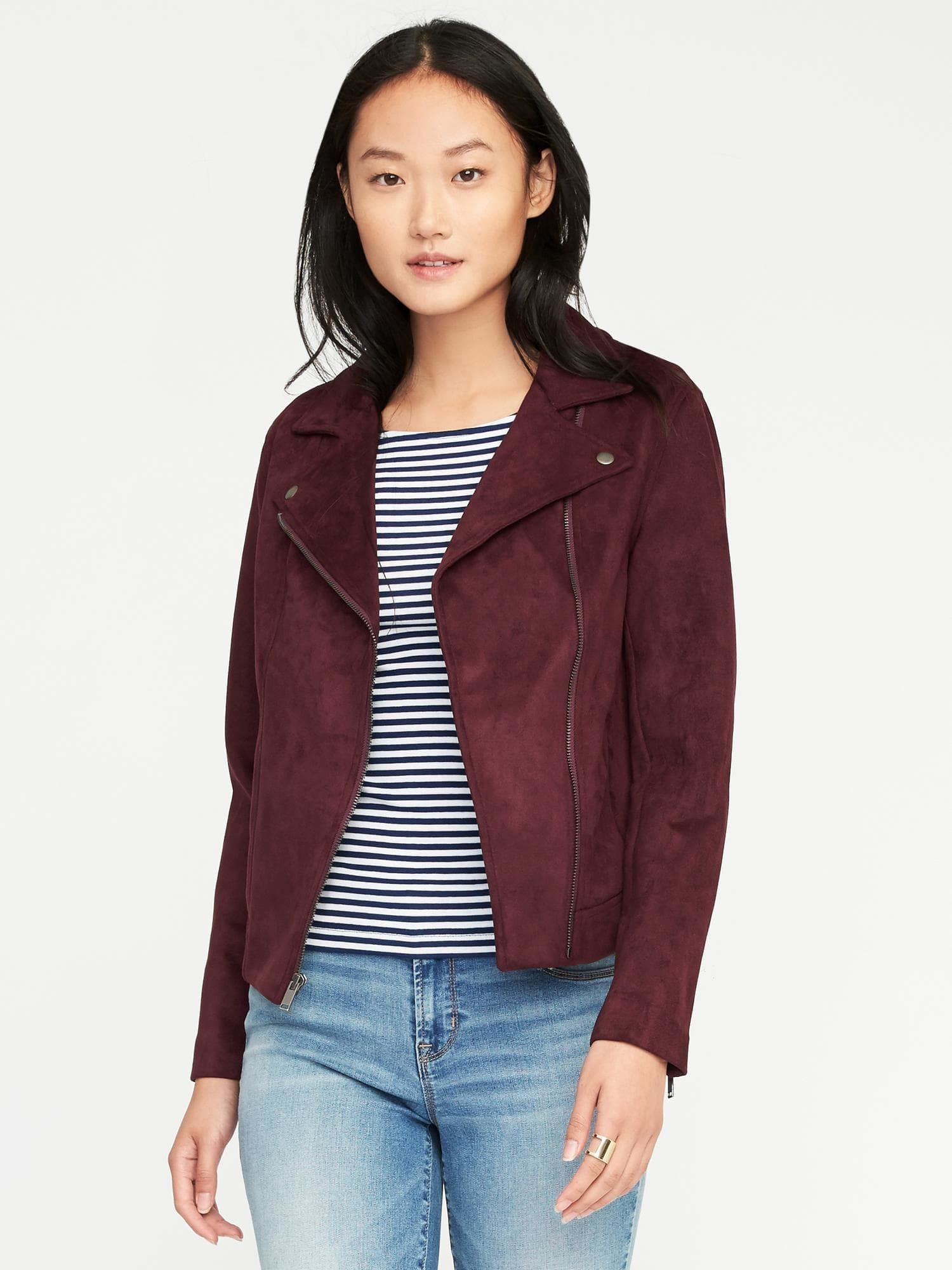 1338cbe76c Love this wine moto jacket from Old Navy!
