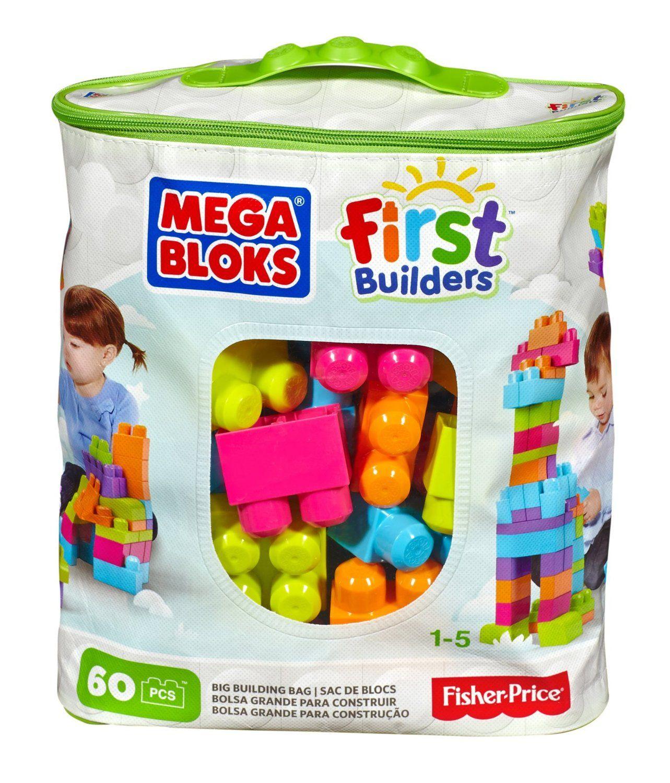 Mega Bloks First Builders Blocks With Bag 60Pcs Green CYP66