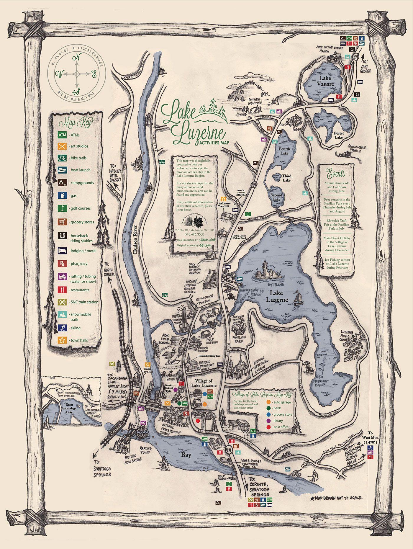 lake luzerne ny map Lake Luzerne Activities Map Lake Luzerne Lake Lake George lake luzerne ny map