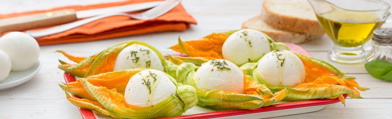 Fiori di Zucca con Mozzarella - Antipasto Gustoso, Fresco e Colorato | Vallelata