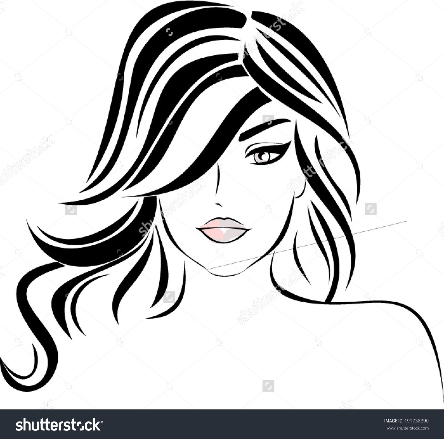Stock Images similar to ID 145553431 - woman face. hand painted ...