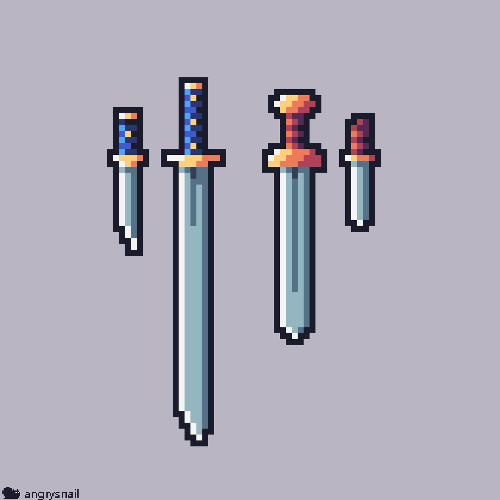 Pixelart Swords Pixel Art Design Cool Pixel Art Pixel Art Characters