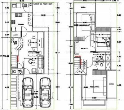 Planos De Casas Modernas De Dos Pisos Pequenas Hermosa Classic House Design Narrow House Designs House Map