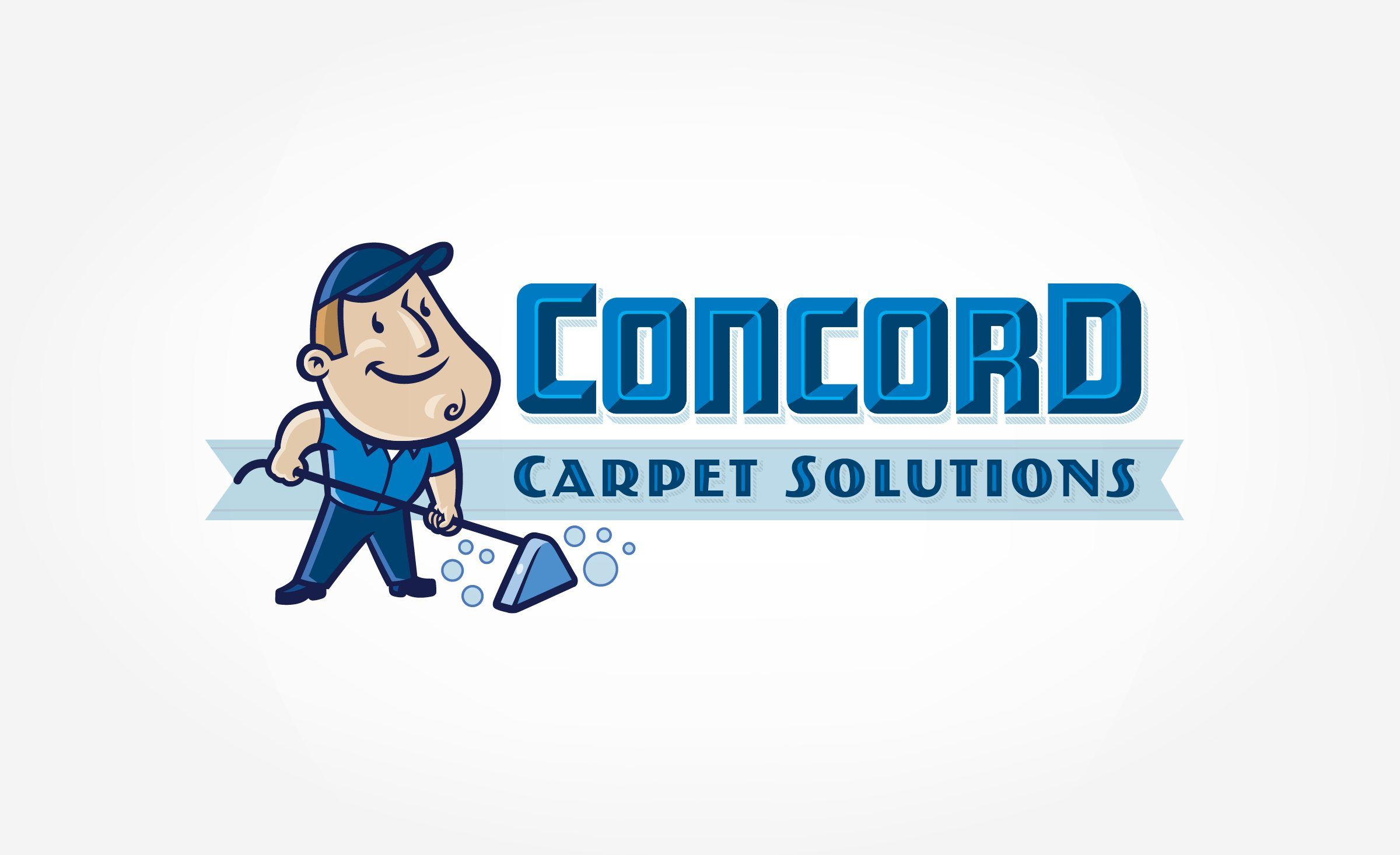 Retro themed mascot logo design and character development for a carpet cleaning business in Florida. - NJ Advertising Agency, NJ Ad Agency, Logo Design, ...