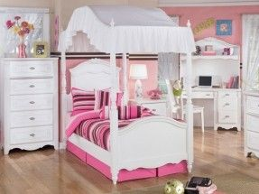 little-girl-canopy-bed (287×215) | jessies room ideas