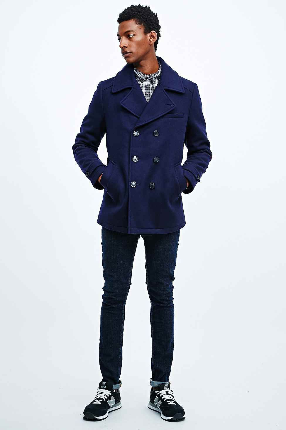 konkurs destillering Avgå  Selected Homme Mercer DB Pea Coat in Navy | Peacoat, Coat ...