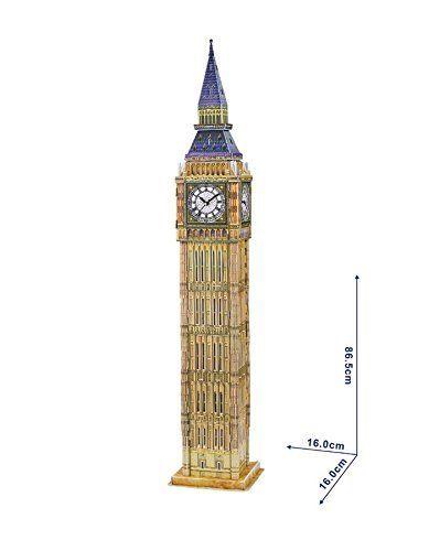 NiXiM 3D puzzle Big Ben mit realen Arbeits Uhr 86,5 cm hoch Architekturmodell ... from amazon.de on Wanelo