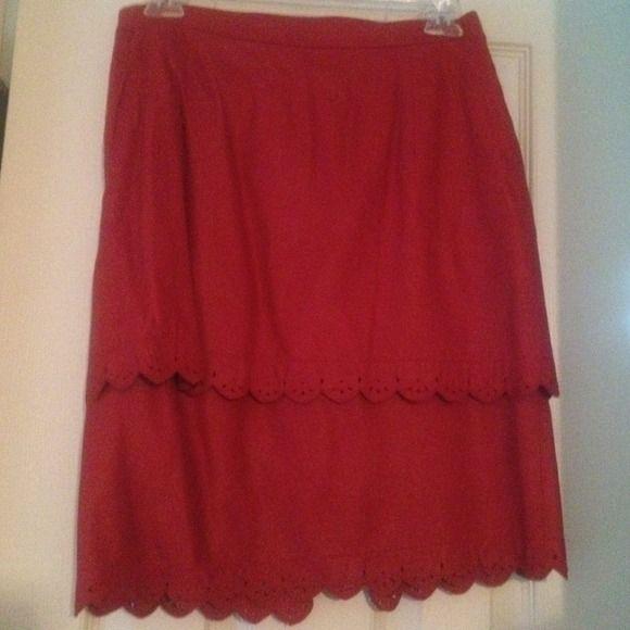 Vera pelle leather skirt Hot pink leather skirt Skirts