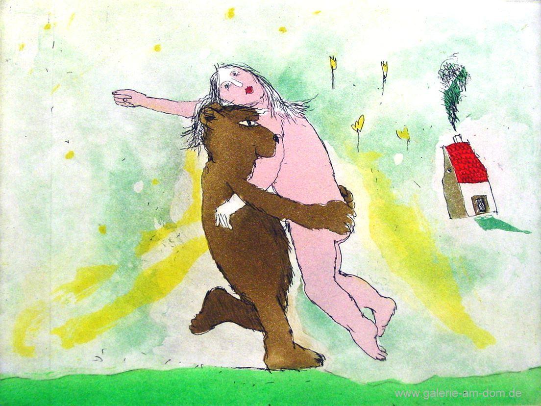 Der Bär, der Bär, der wiegt nicht schwer von Janosch präsentiert von der Galerie am Dom in Frankfurt und Wetzlar