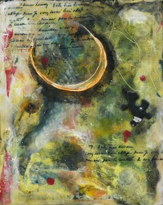 """the-missing-link by Sandra Duran Wilson Mixed Media ~ 10"""" x 8"""""""