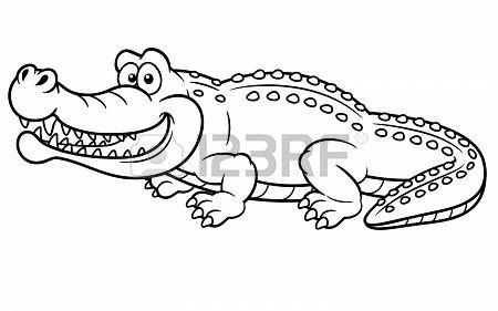 illustration of Cartoon crocodile - Coloring book | Tiaras ...