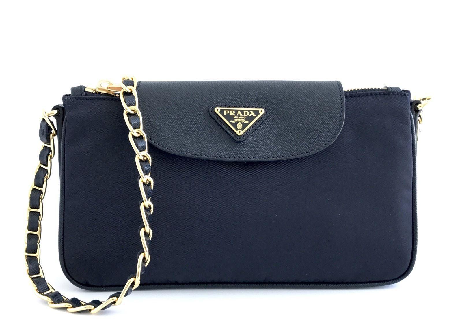 04b7891d169b Prada Chain Strap Nylon Navy Blue Cross Body Bag. Get the trendiest Cross  Body Bag