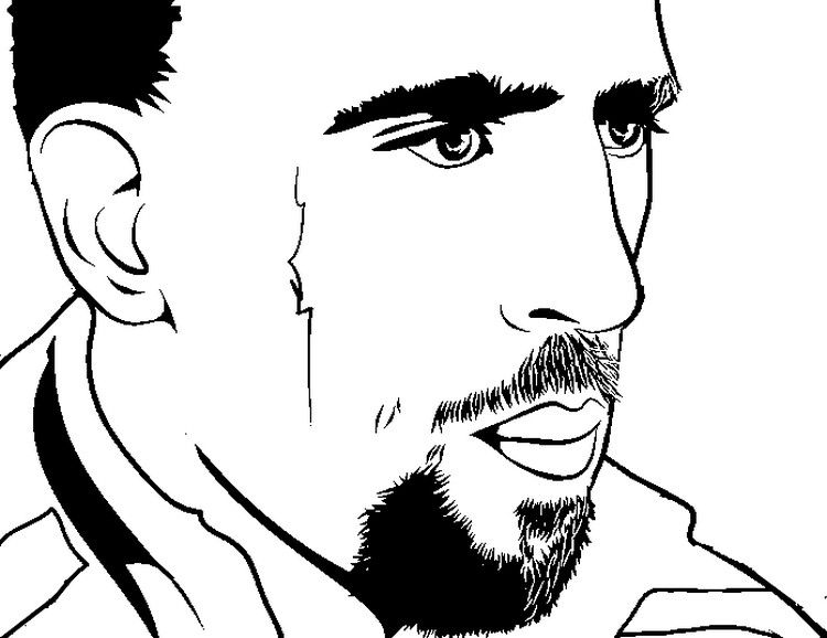 coloring page soccer  franck ribery  soccer world cup