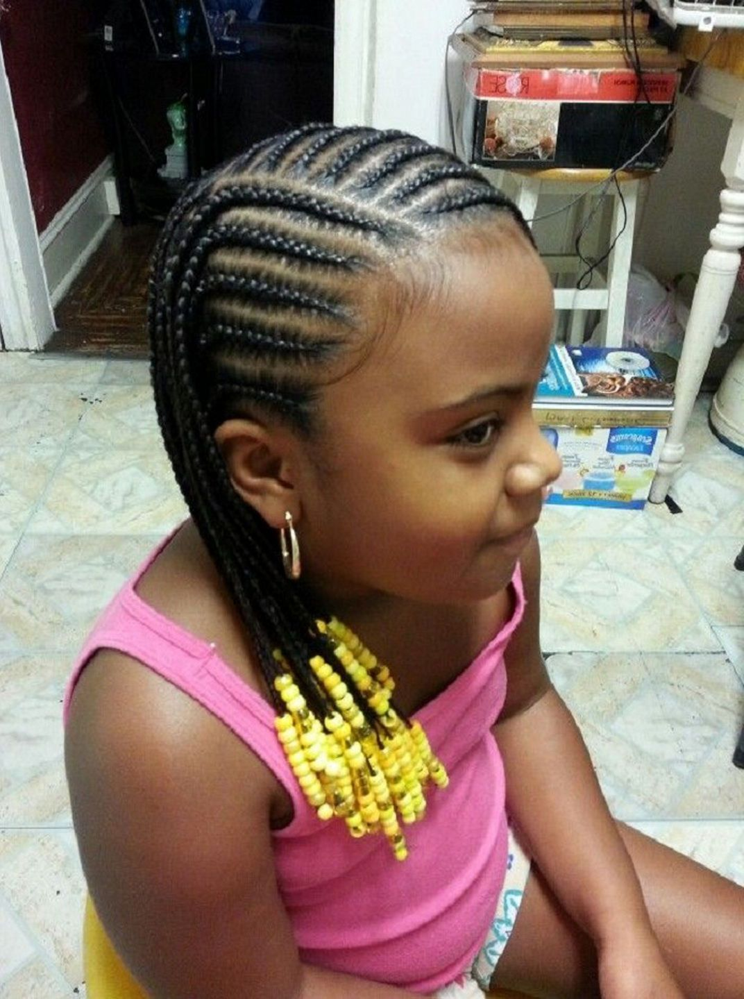 Little Girl Natural Hairstyles Cornrow