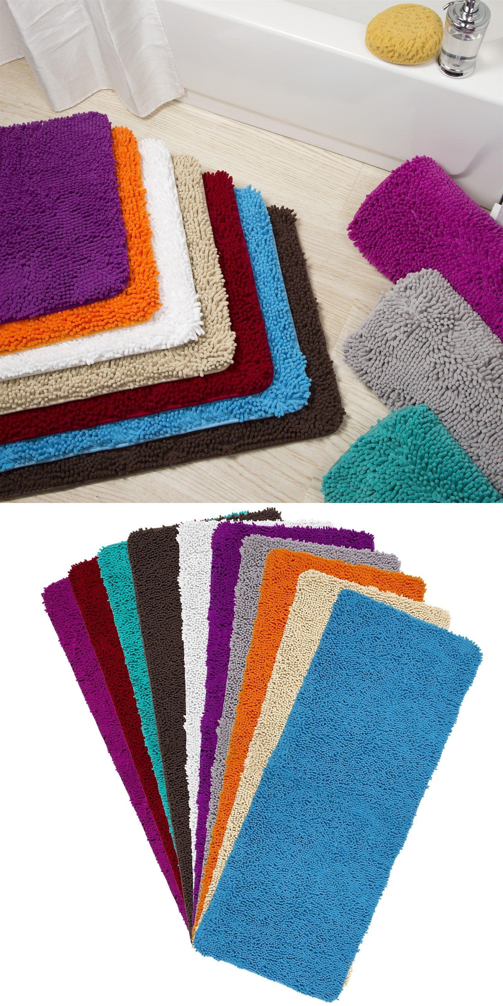 Memory Foam High Pile Shag Rug 24 X 60 Bathroom Mat Long Non Slip Shag Rug Rugs Memory Foam [ 3200 x 1600 Pixel ]