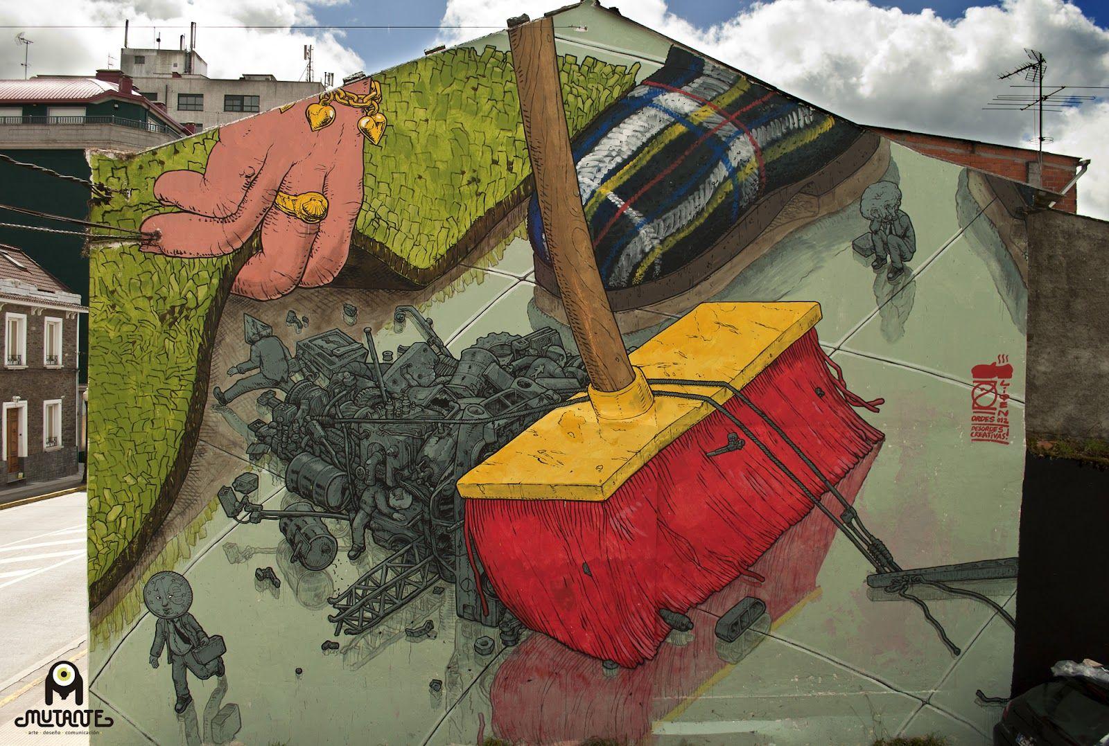 Street Art from DESORDES CREATIVAS 2012 - In Ordes, Spain