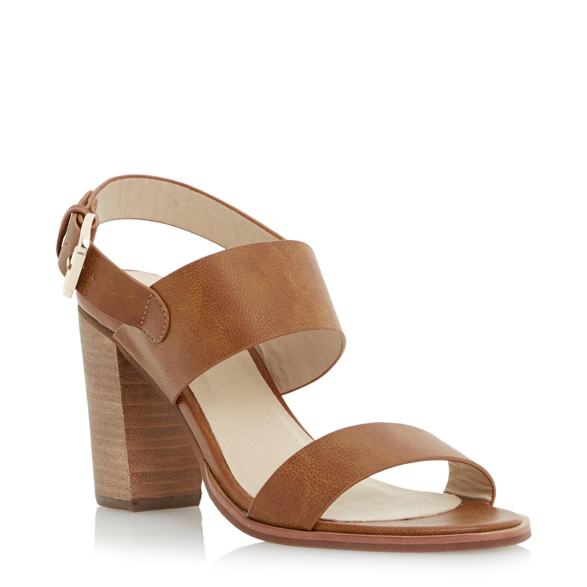 Head Over Heels Ladies JOLLI - Wide Strap Block Heel Sandal - tan | Dune  Shoes Online, $79