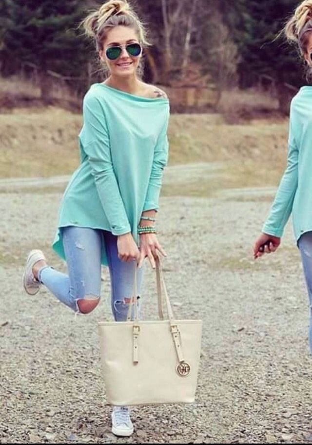 Street style, pastel color