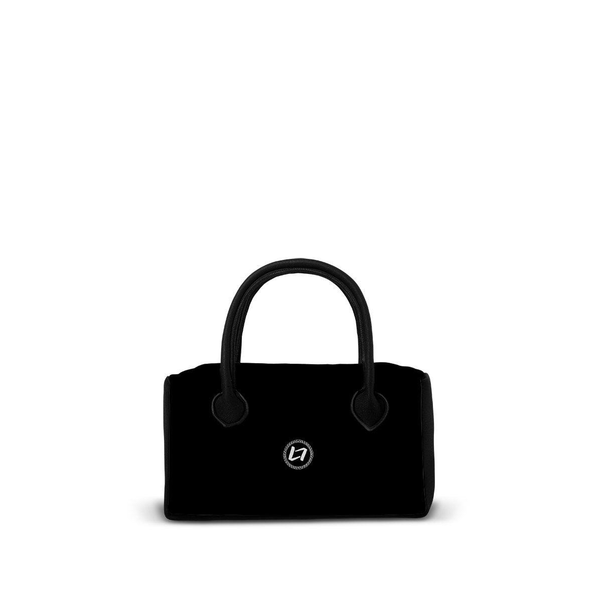 NEOS-OC-BLACK - Borsa sportiva da giorno in neoprene con zip. - una borsa realizzata da LOOMLOOM - made in Italy.