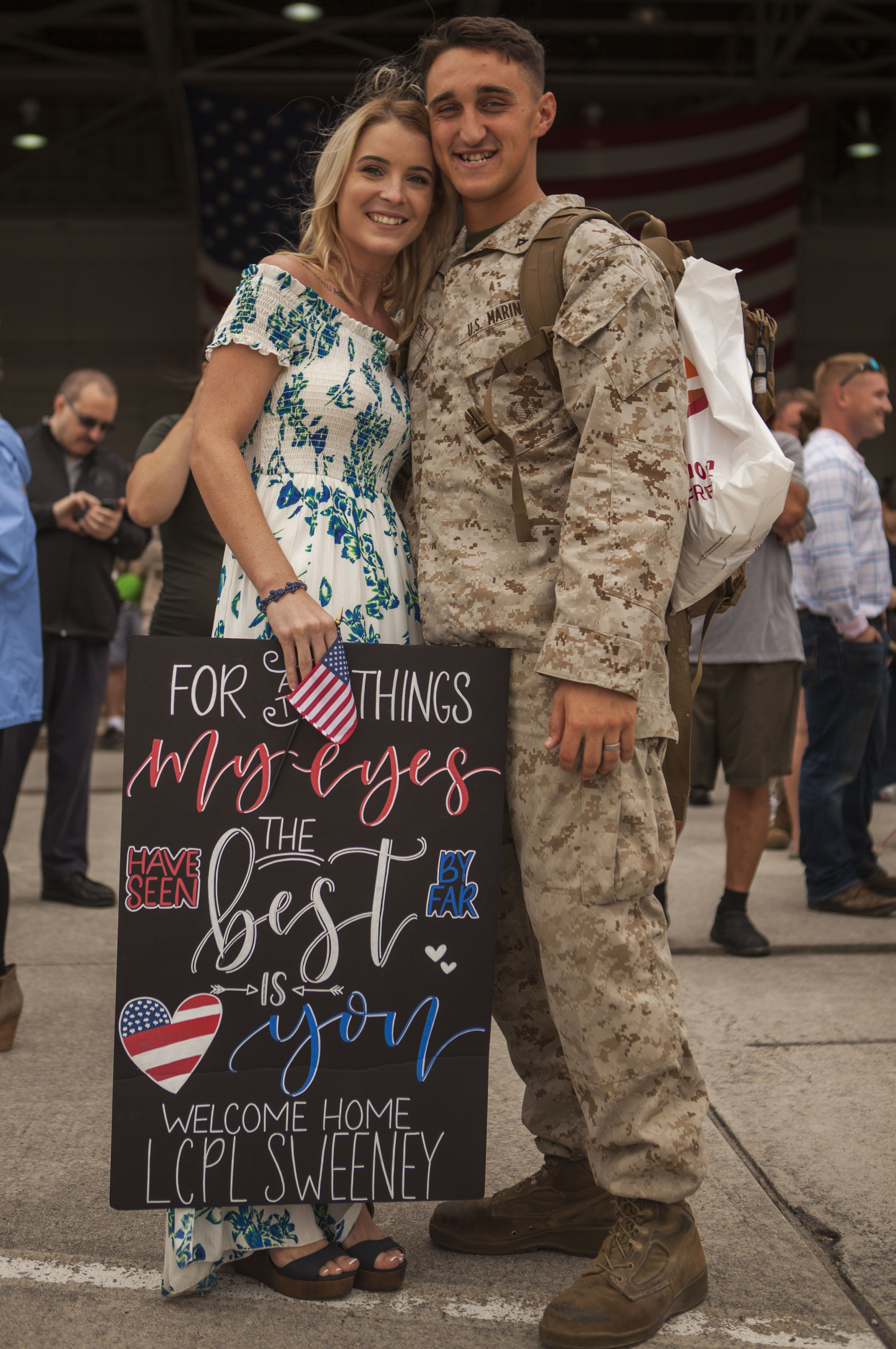 12bf0cd0373 97 Sign Ideas for Military Homecomings