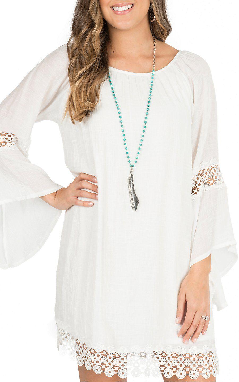 Wrangler Women S Cream With Crochet Trim Long Sleeve Peasant Dress Western Dresses Cowgirl Dresses Long Sleeve Peasant Dress [ 1440 x 900 Pixel ]