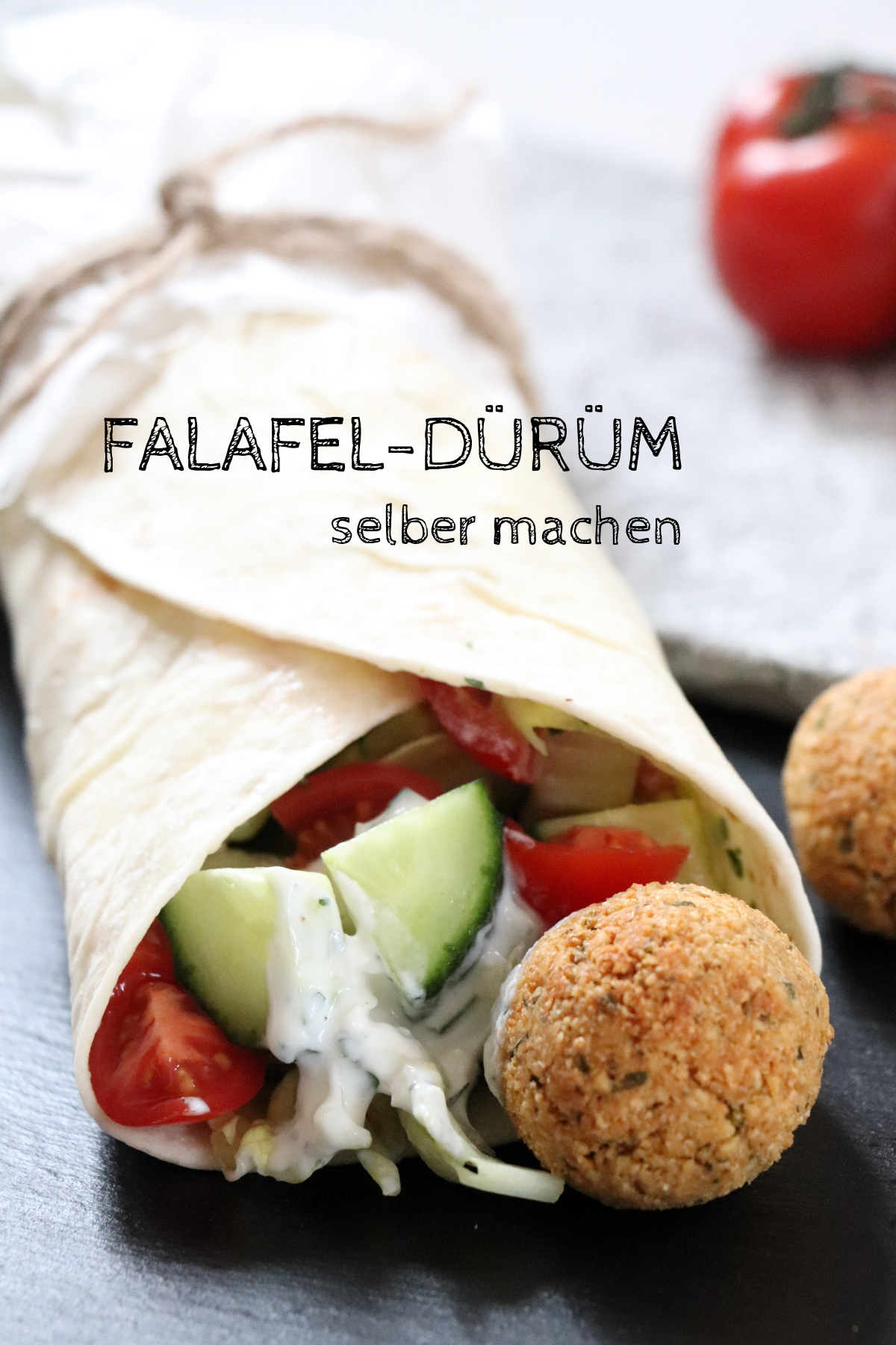 Rezept: Falafel-Dürüm selber machen