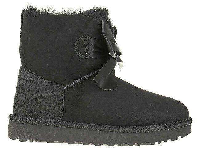 Damen Stiefel Boots UGG Gita Bow Mini Schwarz 1098360 BLK