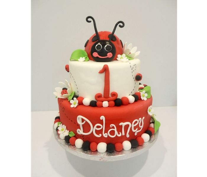 Ladybug 1st Birthday Cake Cakes For Occasions Danvers Ma Www