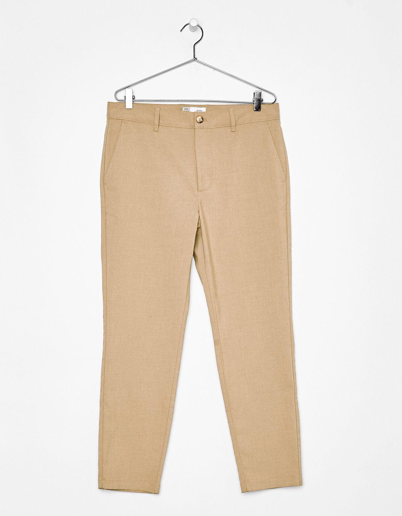 Pantalon Slim Fit Cropped Ropa Moda Rebelde Moda