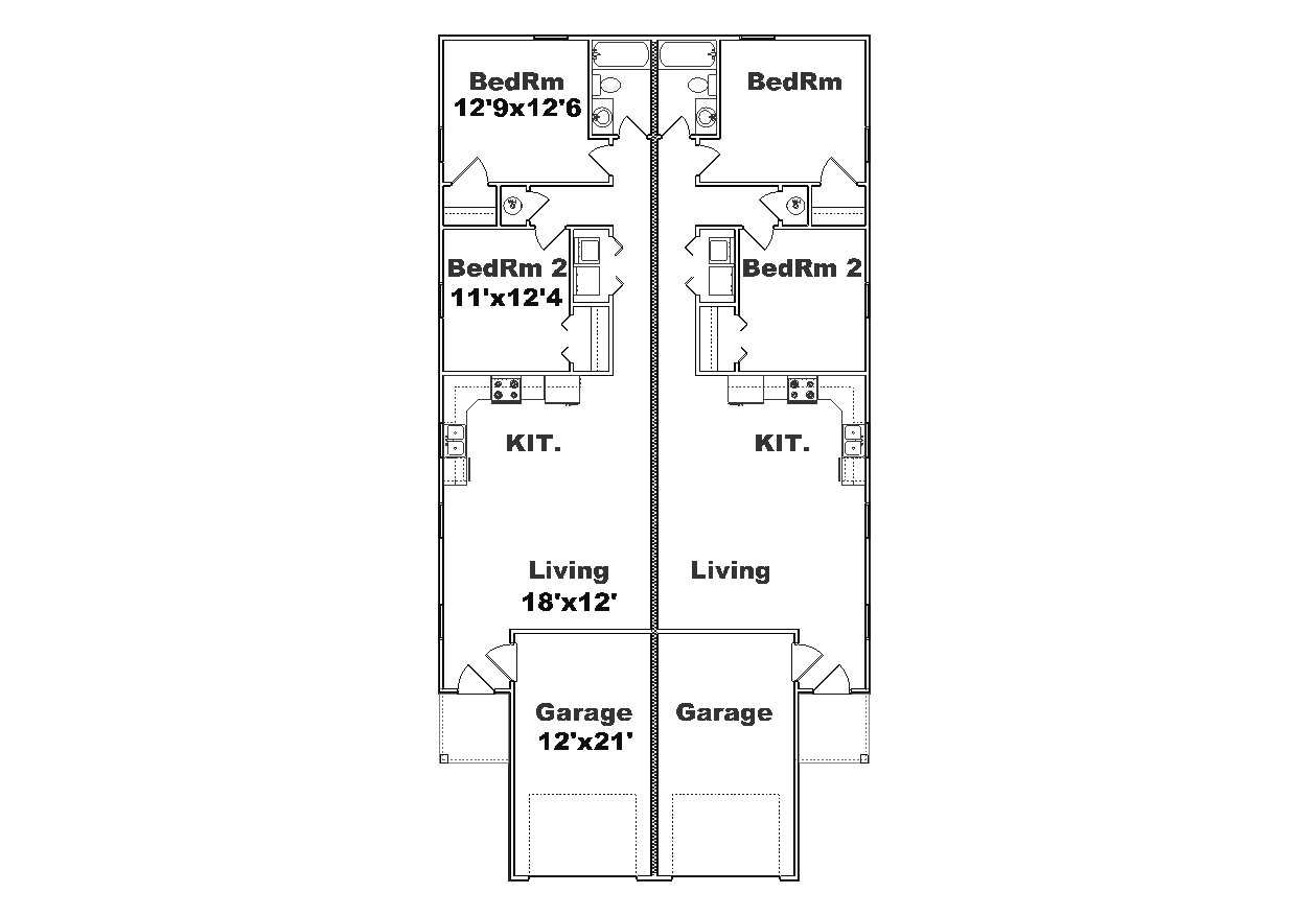 Narrow duplex plans google search projects to try for Duplex house plans for narrow lots