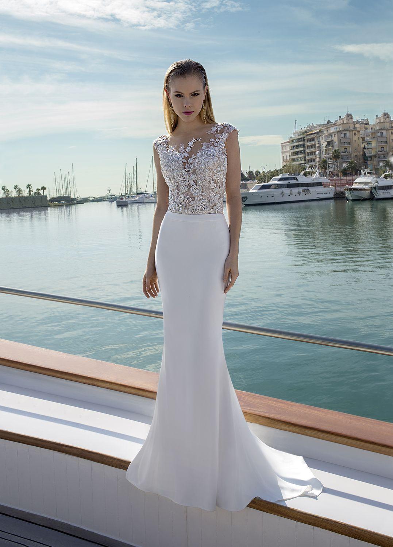 1fbbfbdfc fino vestido de novia convertible en falda de gasa y body en finas  aplicaciones bordadas
