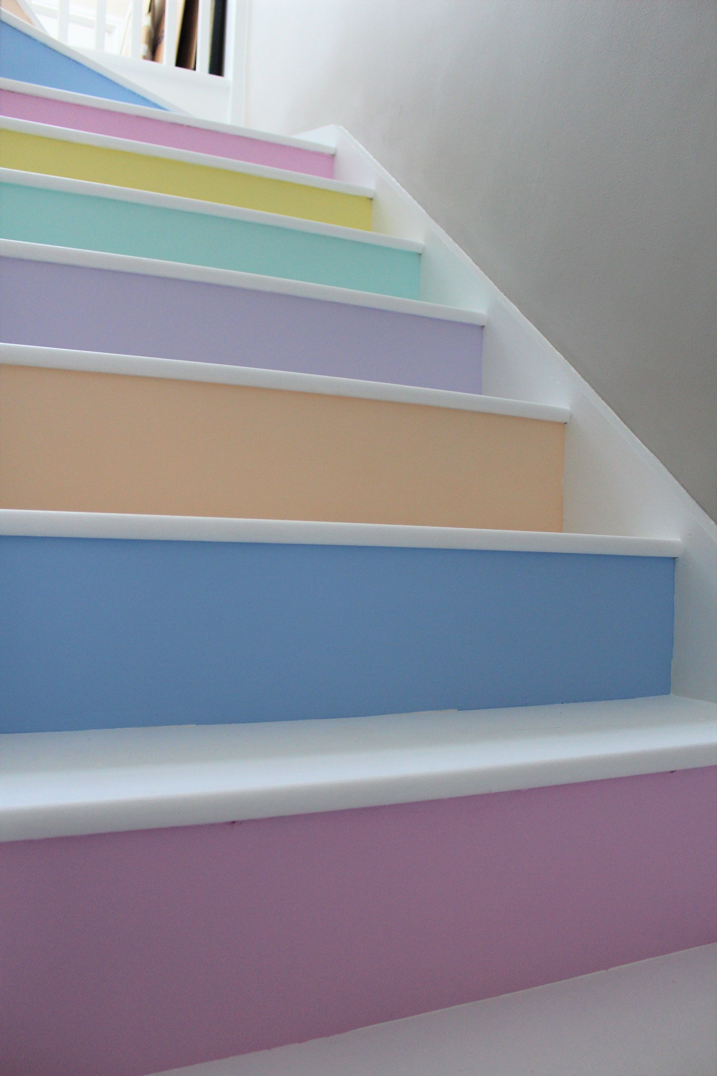 My Stairs White Rustoleum Chalky Floor Paint On The Treads