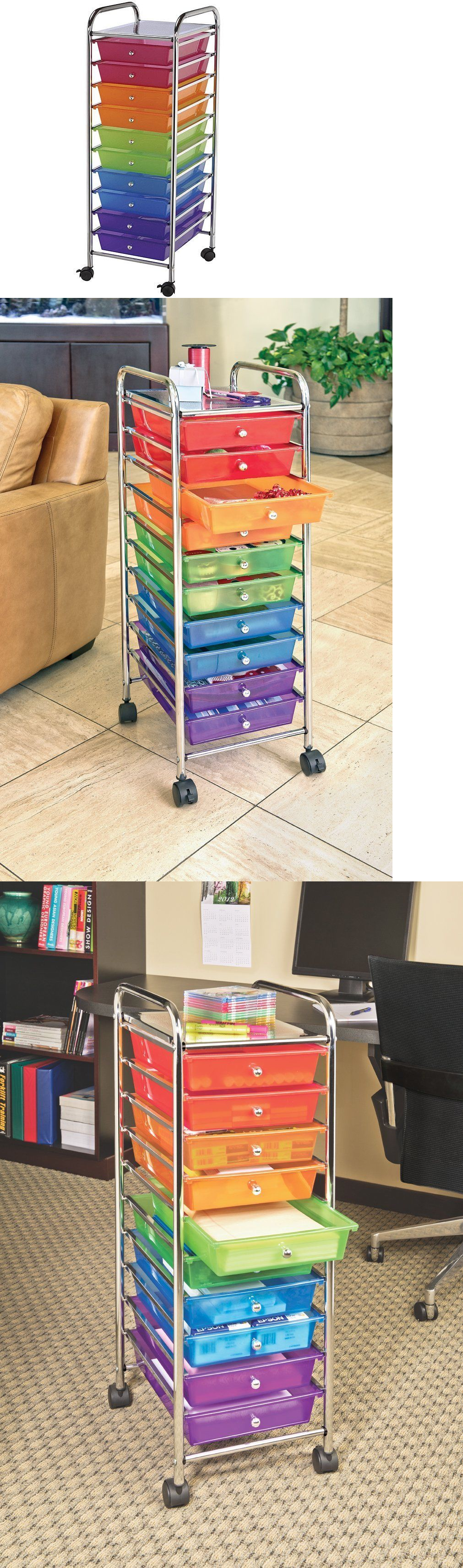 Craft Carts 146400: Craft Storage Cart Art Rolling Organizer With 10  Drawers Furniture Supply Class