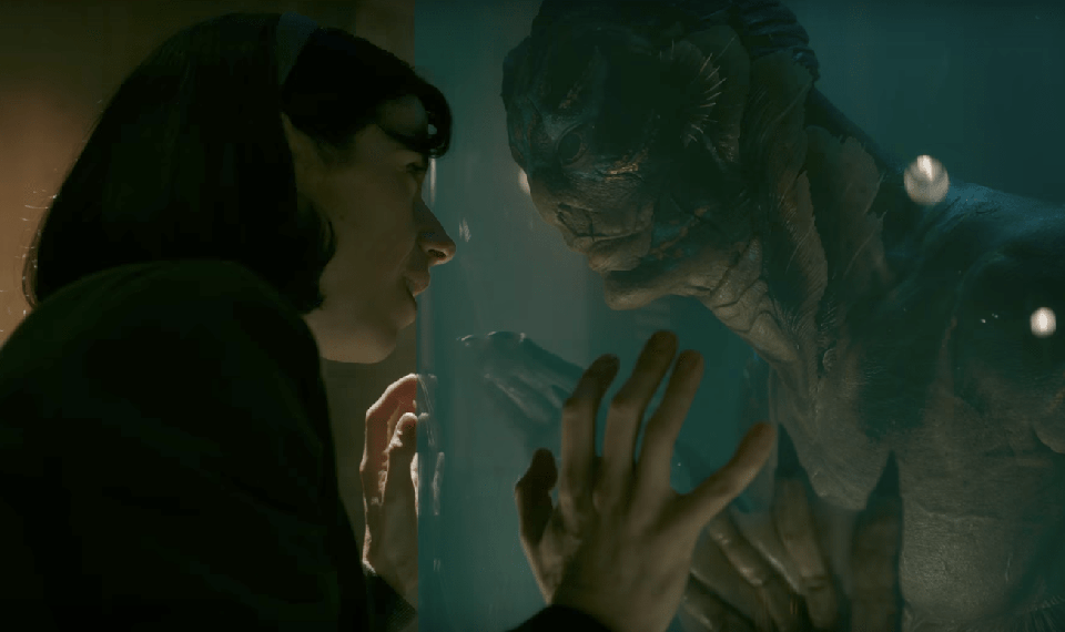 Sally Hawkins and Doug Jones in 'The Shape of Water'