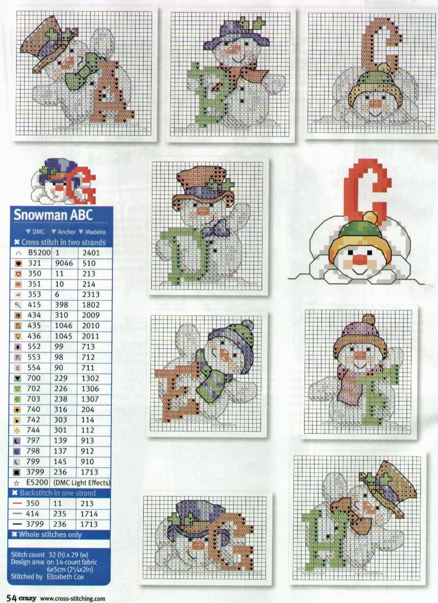 Sandylandya Outlook Classic Snowman Alphabet 1