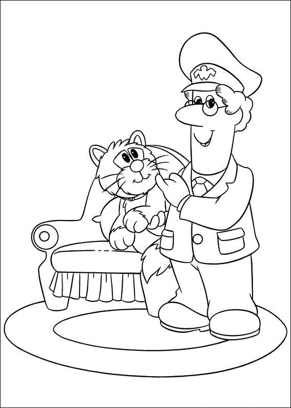 Lovely Postman Pat Coloring Pages