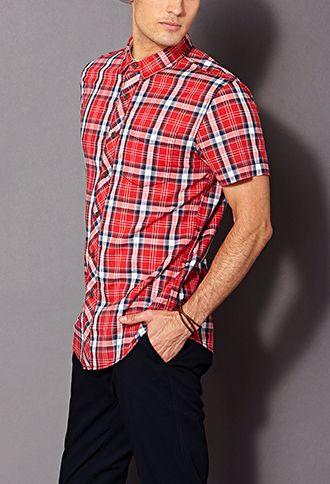 Classic Fit Plaid Shirt | 21 MEN - 2000106571