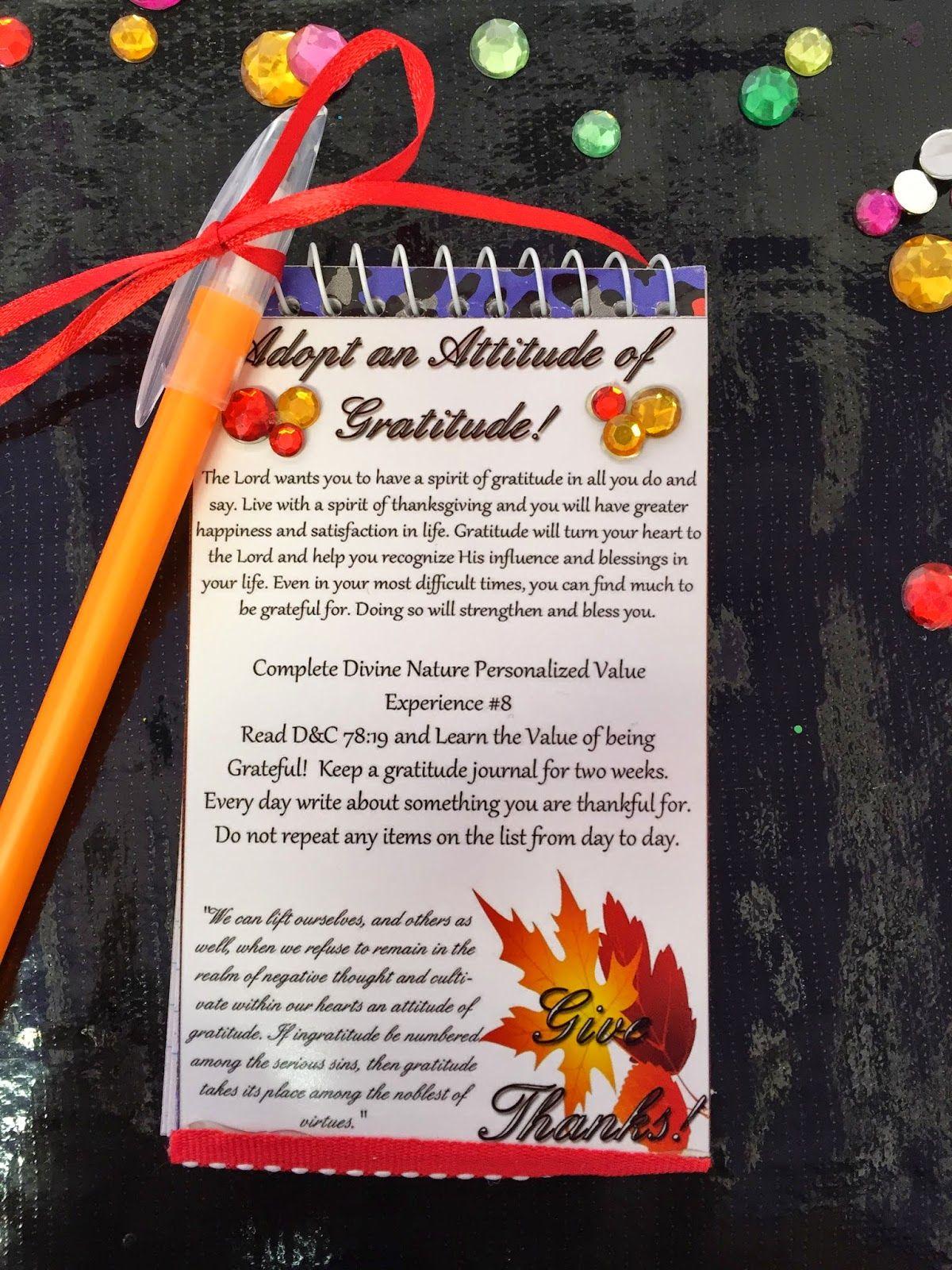 Attitude Of Gratitude Personal Progress November Handout And Printable