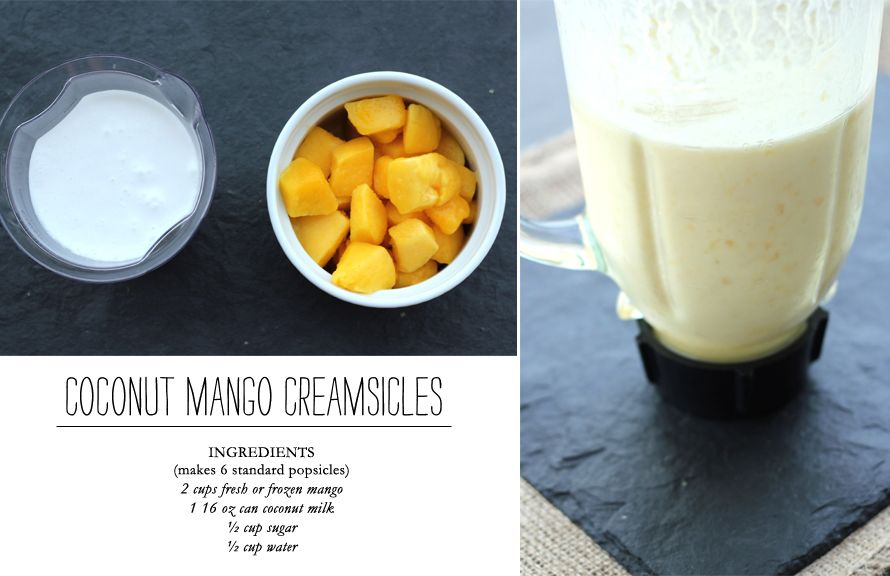 Coconut Mango Creamsicles by Channeling Contessa for The Everygirl