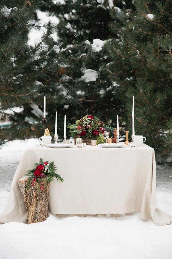 Rustic Christmas Woodland Wedding