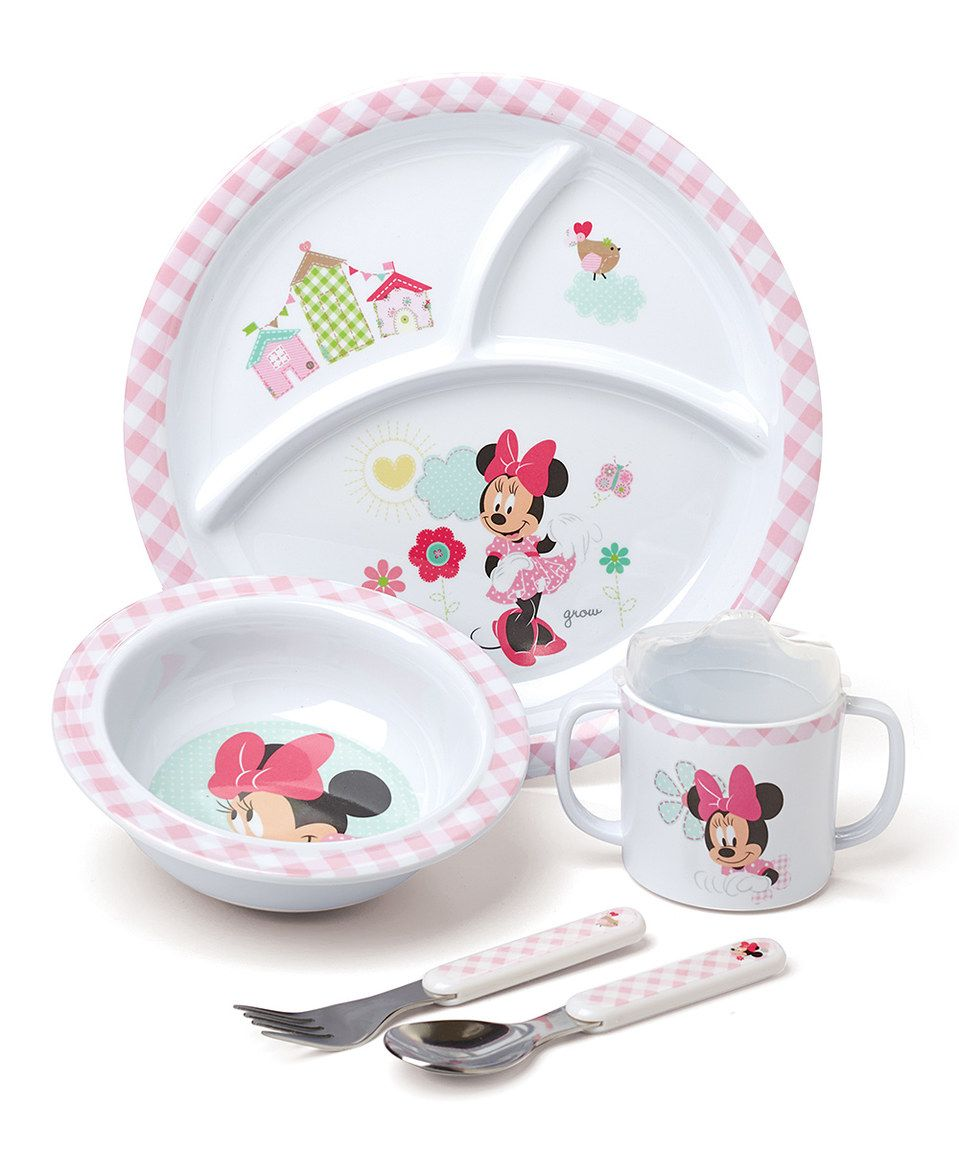 Love This Minnie Mouse Five Piece Dinnerware Set By Mickey