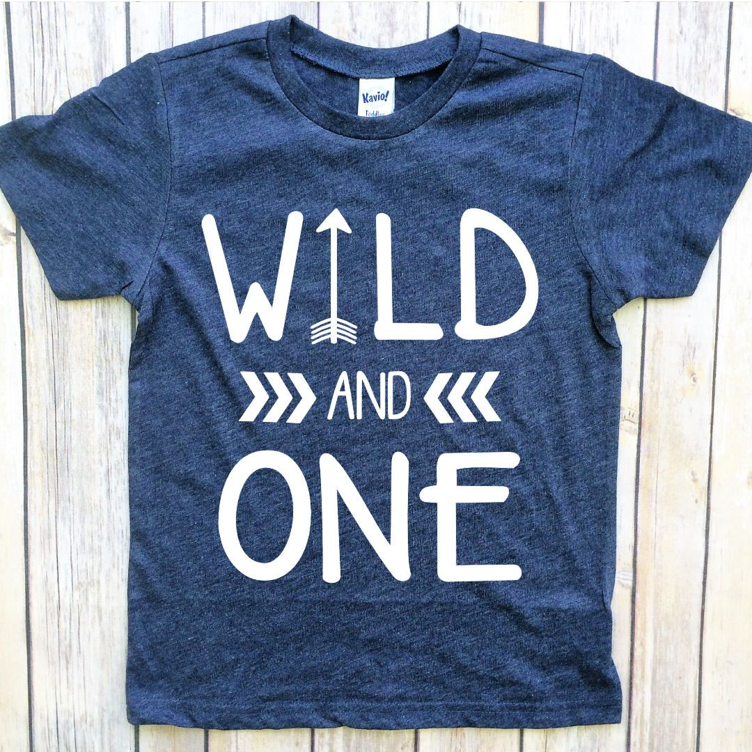 Wild One Birthday Boy Year Old Outfit And First Shirt Boys By PeachTeeCo On