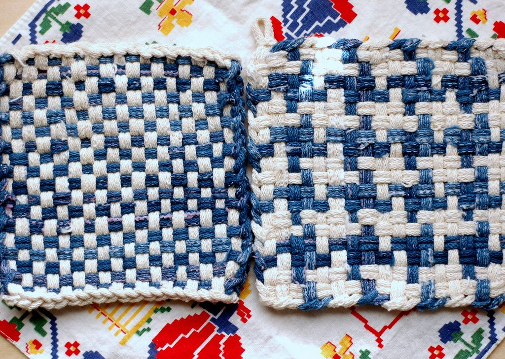 Pot holders made on a loom. Done that.