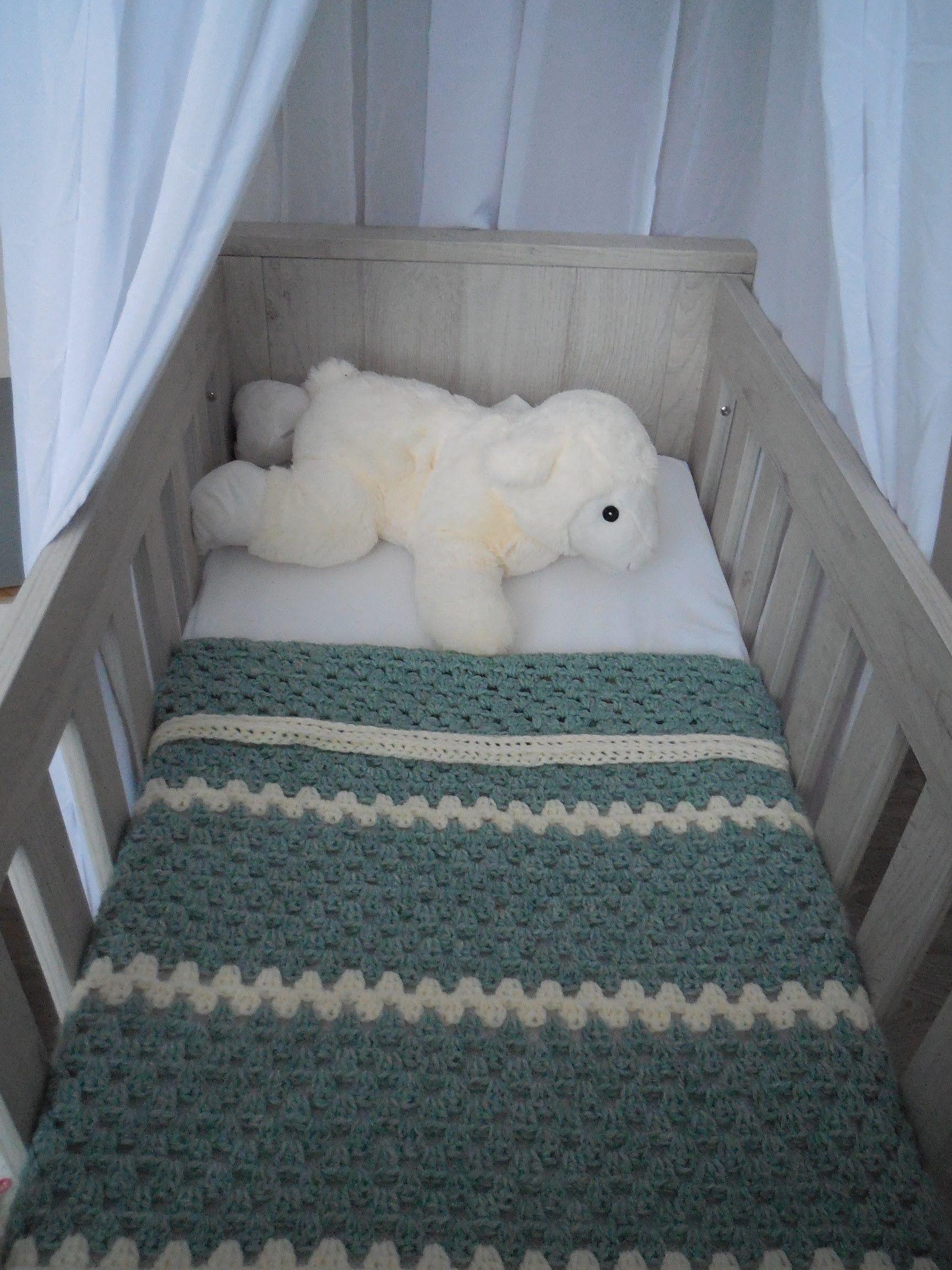 Babydeken Haken Met Granny Strepen Baby Blanket Crochet Beginner
